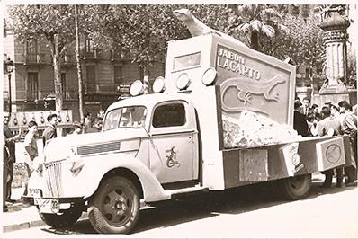 1940-Aprox---LAGARTO---Fotografia-Antigua-Camion-Promocional