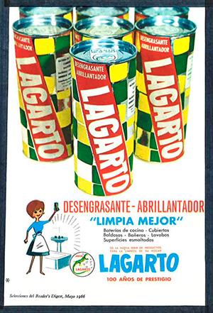1966---LAGARTO---Desengrasante-Abrillantador---Anuncio-Prensa-SELECCIONES
