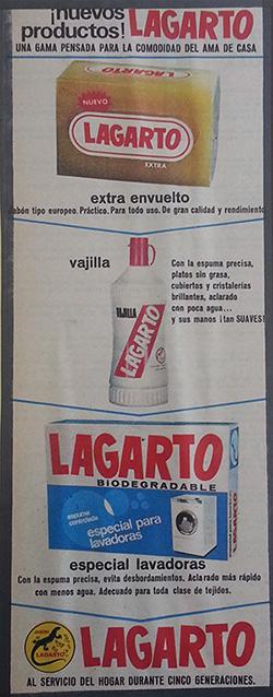 1968---LAGARTO---Nuevos-productos---Anuncio-Prensa---Ama