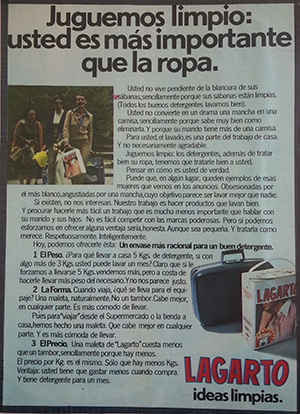 1980---LAGARTO---Anuncio---Juguemos-Limpio---Usted-es-mas-importante-que-la-ropa