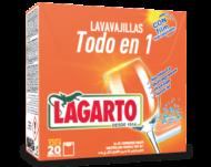 Lavavajillas Lagarto Todo en Uno 20 Unidades