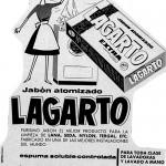1962 - LAGARTO - Jabón atomizado - Anuncio Jabón Lagarto Lavadora