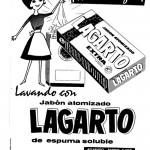 1962 - LAGARTO - Jabón atomizado - Detergente Máquina ¡Ahorre Agua!