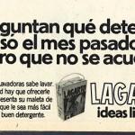 1974 - LAGARTO - Detergente Lavadora - Anuncio Garbo - No se acuerda detergente
