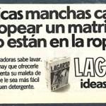 1976 - LAGARTO - Detergente Lavadora - Anuncio Lecturas - Manchas Matrimonio