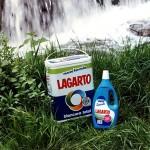 1990 - LAGARTO - Foto Detergente y Suavizante sobre hierba